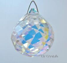 40mm Swarovski Crystal AB Mozart Twist Ball 8550 Suncatcher ~ Flawed Tiny Marks