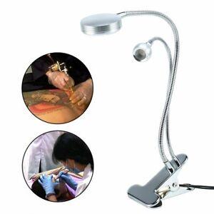 5W Flexible Gooseneck USB LED White Light Clip-on Bed Table Desk Warm White Lamp