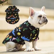 Pet Puppy Summer Dog Cat T-shirt Sleeveless Clothes Cotton Vest Costume Black