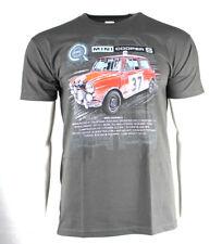 * Nuevo * Gran Rally Coches T-shirt Mini Cooper S-Gris jaspeado Talla 2XL/Xx Grande