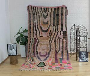 "Vintage Moroccan rug Handmade Autentic Carpet / wool,  Free Shipping 9'6""/5'1"""