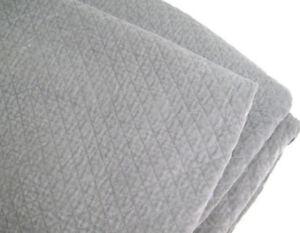 Williams Sonoma Home Light Gray Diamond Velvet Full Queen Quilt New