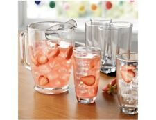 Mainstays 7-Piece Clear Glass Pitcher and Drinkware Tumbler Set
