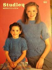 Studley Knitting Pattern - Mother & Daughter -22-38inches 56-97cms