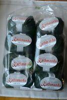 8 skeins Queensland Kathmandu Aran Yarn Green Tweed Merino Wool Silk Cashmere