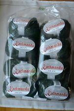 New Listing8 skeins Queensland Kathmandu Aran Yarn Green Tweed Merino Wool Silk Cashmere