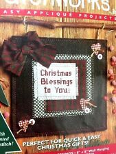 Christmas Blessings Applique Stitch Kit Holiday Patchworks Bucilla Sealed 8x8
