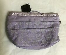 NEW Anna Sui Purple Butterfly Cosmetic Bag Retail $66 Christmas Gift