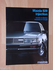 Mazda 929 Injection Sedan /Coupe Prospekt / Brochure / Depliant, NL, 9.1984