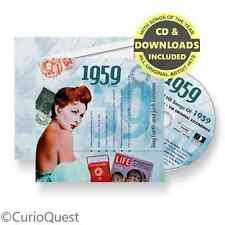 60th Birthday Diamond Wedding Anniversary Card & Gift CD 1959 Music