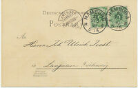 """DT.REICH """"HAMBURG / 12."""" K1 a. Kab.-Postkarte nach """"LANGNAU / (BERN)"""" Schweiz"""