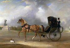 "John Ferneley ,Horse and Cart, Terrior Dog, antique Decor, 16""x11"" Art Print"