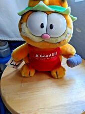 """VINTAGE 1988 GARFIELD PLUSH """"A Good Elf is Hard to Find""""  W/tag."""