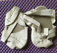 Vintage Baby Shoes Leather Pair (No Buckles) 1940's VGC