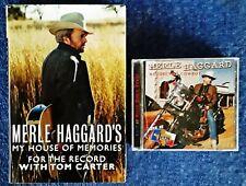 MERLE HAGGARD - MY HOUSE OF MEMORIES - HARDBACK BOOK + LIVE AT BILLY BOB'S TX CD