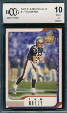 TOM BRADY 2002 FLEER FOCUS JERSEY EDITION JE BCCG 10 2ND YEAR CARD #1 BGS!