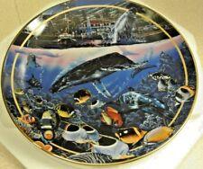 """Crystal Waters of Maui"" Whales, Dolphins, Fish, Original Box + COA + FREE SHIP!"
