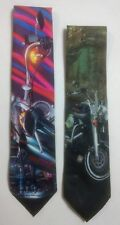 Harley Davidson Ralph Marlin Motorcycles Neck Tie Lot of 2