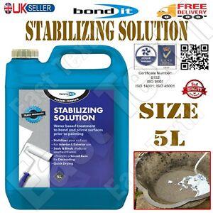 Bond It 5L STABILISING SOLUTION Primer Paint Concrete Masonry Surface 5 Litres