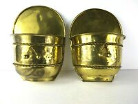 Lot Of 2 Wall Hanging Brass Planters Made In India Rope Design