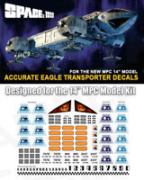 "SPACE 1999 EAGLE TRANSPORTER STICKER DECALS - for MPC 14"" EAGLE KITS - 1/72"