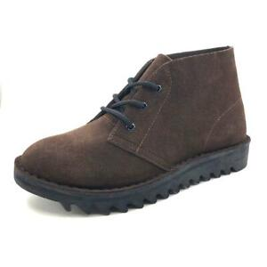 Ripple Sole Rollers 3 Eye Desert Boots Db's Harley - Brown Suede