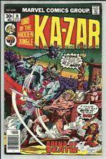 KA-ZAR #18 1976 MARVEL BRONZE AGE JUNGLE ACTION! ARENA OF DEATH! KLAW APP! VG+