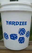Yardzee Custom Outdoor 6 Cedar Wood Lawn Dice Yard Game Farkle Burnt Dots BLUE