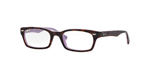Ray-Ban RX5150 Eyeglasses Top Havana On Opal Violet 5240 50-19-135 J