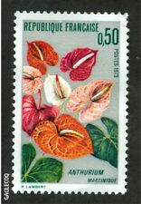FRENCH POSTAGE -  1973 ANTHURIUM MARTINIQUE STAMP 0,50 POSTES FRANCE