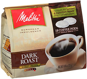 Melitta Coffee Pods for Senseo and Hamilton Beach Pod Brewers, Dark Roast, NEW