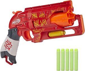 Nerf Hammershot Foam Dart Blaster Revolver Zombie Strike Red Dead 5 Kill Shot