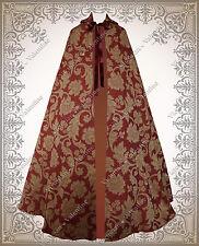 Gothic Steampunk Brocade Cloak Men Women Victorian Medieval Renaissance Cape
