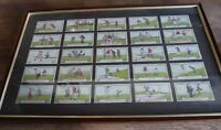 LARGE FACSIMILE FRAMED VINTAGE RARE GOLF CIGARETTE CARDS 1910 BERLYN