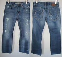 BKE The Buckle Aiden Distressed Destroyed Jeans Medium Wash Men's Size 30 HW5674