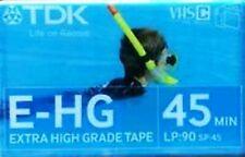 TDK E-HG EXTRA HIGH GRADE SP:45MIN LP:90MIN VHS-C CAMCORDER TAPE POST