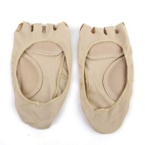 Women Open 5 Toe Arch Support Forefoot Padded Cushion NO SHOW Footie Liner Socks