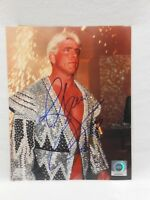 SIGNED WWE 8x10 Photo by NATURE BOY Ric Flair WCW WWF TNA ECW Autographed WOOOO!
