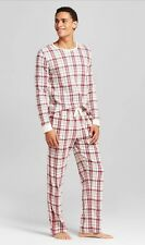 Burt's Bee Men's Pajamas Organic Cotton Plaid, NWT, Size XL, 2 Piece Set