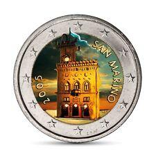 San Marino 2 Euro-Münze Regierungspalast 2005 prägefrisch in Farbe