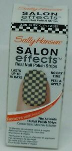 1 Box Sally Hansen Salon Effects Real Nail Polish Strips CHECK PLEASE! #235 16ct