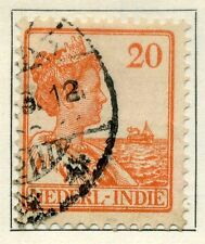 NETHERLANDS INDIES;  1932 early Wilhelmina surcharge issue used 20c. value