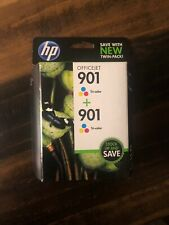 Genuine Twin-Pack HP 901 Tri-Color Ink Cartridges - NEW & FACTORY SEALED - 2013