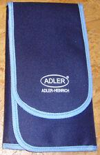 Flötentasche: hochwertige blaue Tasche von Adler Heinrich für Altblockflöten NEU