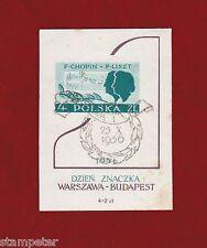 1956 Poland MS SG 986a Fine Used, Chopin miniature sheet.