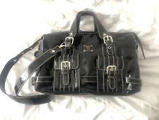 MCM Designer Black Patent Leather Handbag