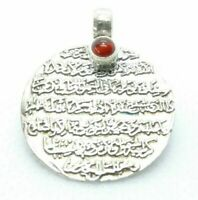 Ayatul Kursi Pendant, Islam pendant, agate, 925 Silver, muslim islamic gift