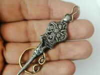 Very Stunning Rare Ancient Old Amulet Viking Silver Color Artifact Authentic