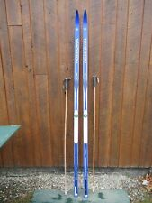 """New listing Ready to Use Cross Country 81"""" Rossignol 210 cm Snow Skis Sns Profil Binding"""