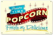 Vintage Retro Movie Theatre Popcorn Metal Sign Unique Gameroom Wall Decor RPC060